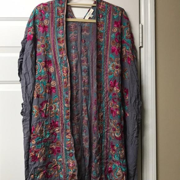 Cool Grey Kimono 1X/2X (20-28) Umgee